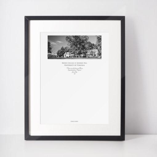 036-GALLIANI-UVA-041-BrownCollege-Wall-Art-Black-Frame