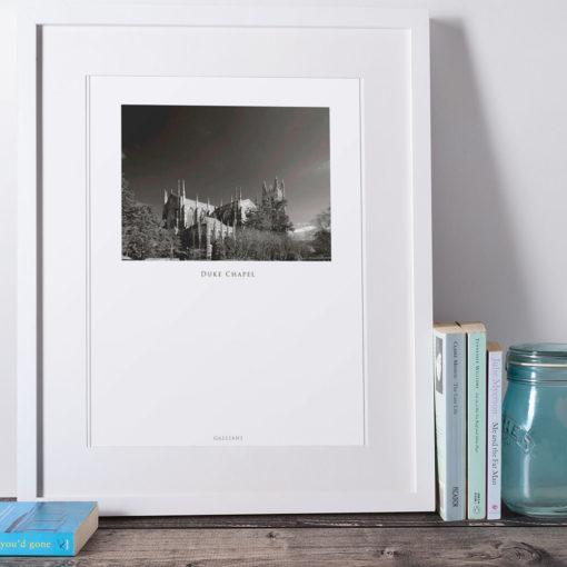 DUKE-CHAPEL-011-GALLIANI-COLLECTION-Wall-Art-White-Frame