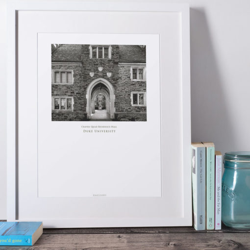 DUKE-Craven-Quad-Residence-Hall-008-GALLIANI-COLLECTION-Wall-Art-White-Frame
