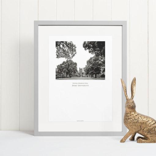 DUKE-Crowell-Residence-Hall-002-GALLIANI-COLLECTION-Wall-Art-Home-Decor-Grey-Frame