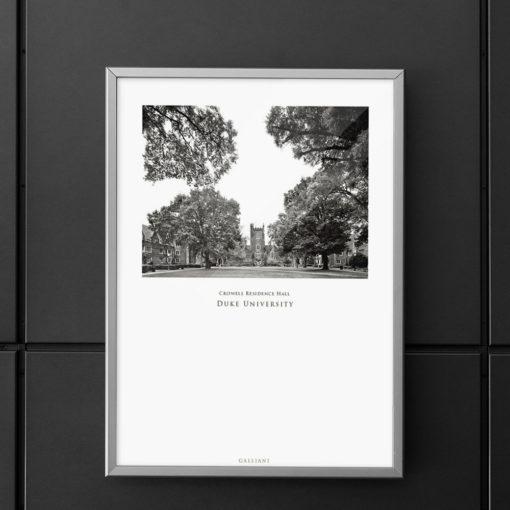 DUKE-Crowell-Residence-Hall-002-GALLIANI-COLLECTION-Wall-Art-Home-Decor-Grey-Frame-Decor