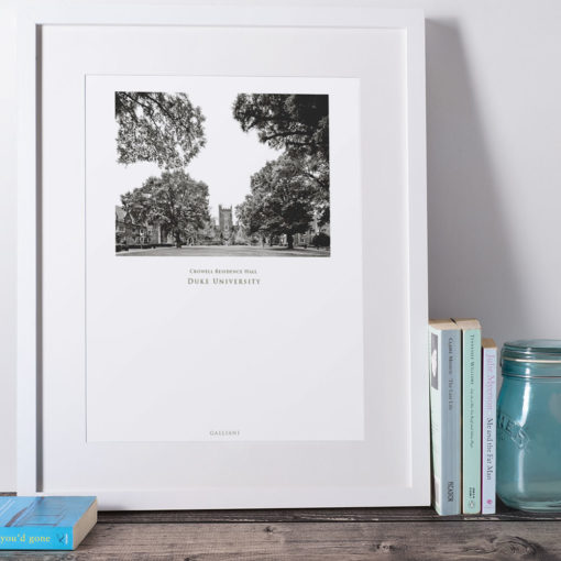 DUKE-Crowell-Residence-Hall-002-GALLIANI-COLLECTION-Wall-Art-White-Frame