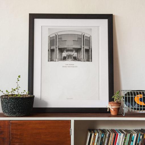 DUKE-Law-School-007-GALLIANI-COLLECTION-Wall-Art-Black-Frame