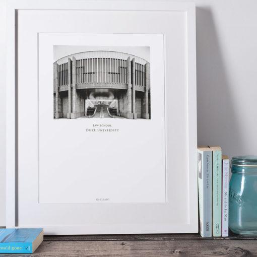 DUKE-Law-School-007-GALLIANI-COLLECTION-Wall-Art-White-Framed