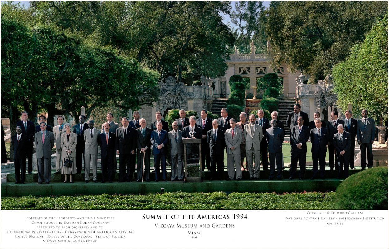 GALLIANI COLLECTION-PRESIDENTS-IN-VIZCAYA-Summit of the Americas '94-s