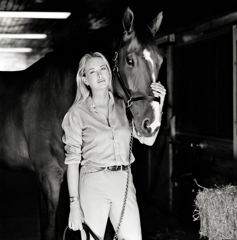 GALLIANI-COLLECTIONI-Jennifer-Huidecopper-Equestrian-Portrait- B&W 1000x1017