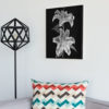 Double-Lily-print-photography-wall-art-galliani-collection-living-room