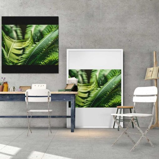 Fern-Plant-Leaves-in-the-Sun-Canvas-Wall-Art-Decor