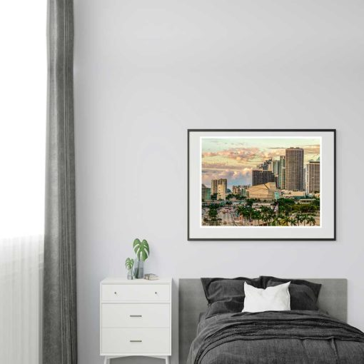 Adrienne-Arsht-Center-Miami-Canvas-Wall-Art-Grey-Frame Color Photography