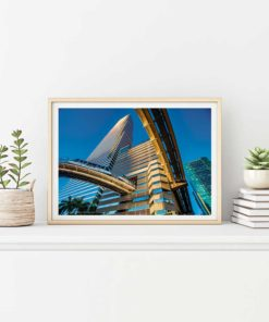 Brickell-Metromover-Canvas-Wall-Art-Beige-Frame Color Photography