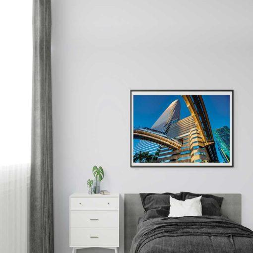 Brickell-Metromover-Canvas-Wall-Art-Grey-Frame-Decor