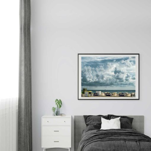 Cloudy-Skies-South-Beach-Canvas-Wall-Art Color Photography