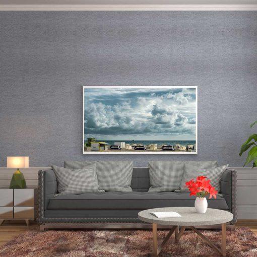 Cloudy-Skies-South-Beach-Canvas-Wall-Art-Decor Color Photography