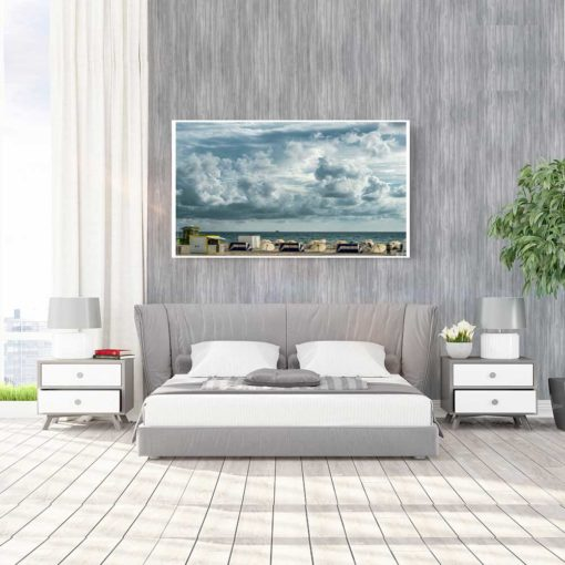Cloudy-Skies-South-Beach-Canvas-Wall-Art-Decor-Mount Color Photography