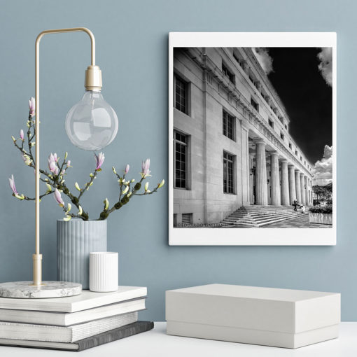 Downtown-Miami-Court-House-Black-&-White-Canvas-Wall-Art Black and white photography