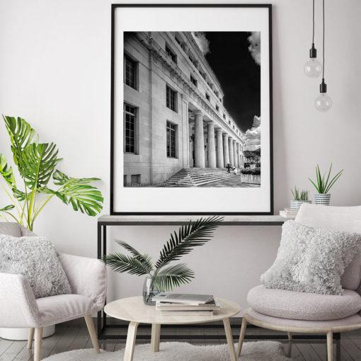 Downtown-Miami-Court-House-Black-&-White-Wall-Art black and white photography Black and white photography