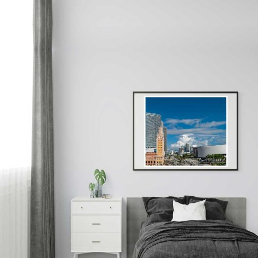 Downtown-Miami-Freedom-Tower-&-Arena-Canvas-Wall-Art