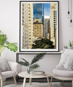 Downtown-Miami-Skyscrapers-Canvas-Wall-Art-Black-Frame Color Photography