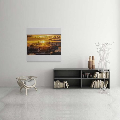 Golden-Sunset-Port-of-Miami-Canvas-Wall-Art-mounted
