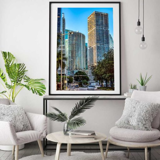 Icon-Building-Brickell-Miami-Canvas-Wall-Art-Framed