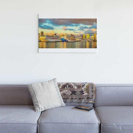 Miami-Main-Channel-Cruise-Port-Canvas-Wall-Art
