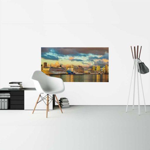 Miami-Main-Channel-Cruise-Port-Canvas-Wall-Art-Decor