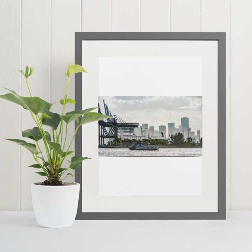 Port-of-Miami-Flyboard-Air-Canvas-Wall-Art-Decor-Framed