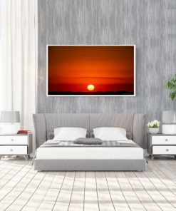 Red-Sky-Sunset-Over-Miami-Canvas-Wall-Art