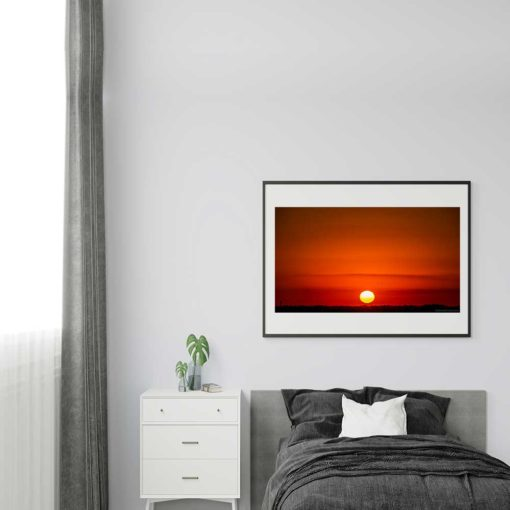 Red-Sky-Sunset-Over-Miami-Canvas-Wall-Art-framed