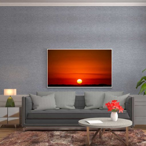 Red-Sky-Sunset-Over-Miami-Canvas-Wall-Art-mount
