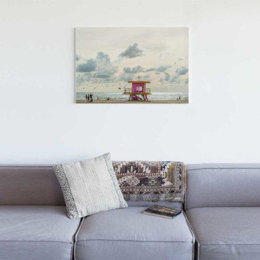 South-Beach-Life-Guard-Tower-Canvas-Wall-Art