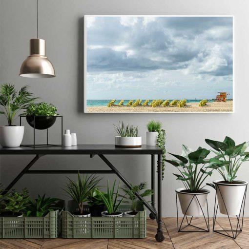South-Beach-Miami-Mornings-Canvas-Wall-Art-Decor Color Photography