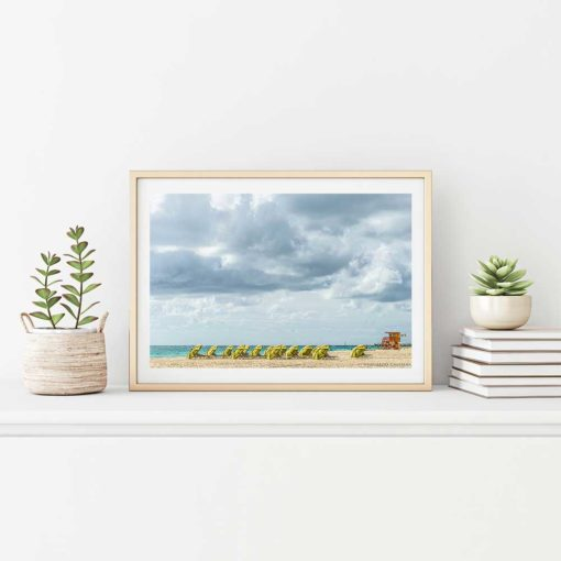 South-Beach-Miami-Mornings-Canvas-Wall-Art-Framed Color Photography